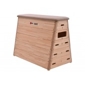 5-section Vaulting Box natural leather without wheels