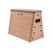 5-section Vaulting Box natural leather with wheels