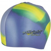 Swimming hat Allright silicone blue yellow