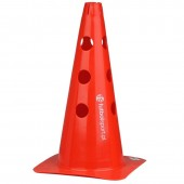 Cone with holes 37,5 cm red