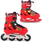 Kids rollerskates/ice skates adjustable ROL188 red-black