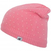 Winter hat for juniors 4f Junior J4Z17-JCAD222 pink