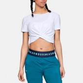 Naiste vabaajasärk Under Armour Lightweight Lux Crop Tee W 1305484-100