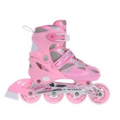 Laste uisud/rulluisud Nils Extreme 2w1 Pink 31-34 NH18366 A