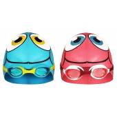 Swimming Cap Fish with Swimming Goggles Junior Waimea